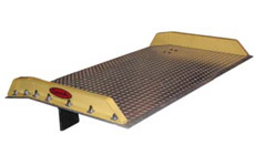 steel dock board with aluminum sides