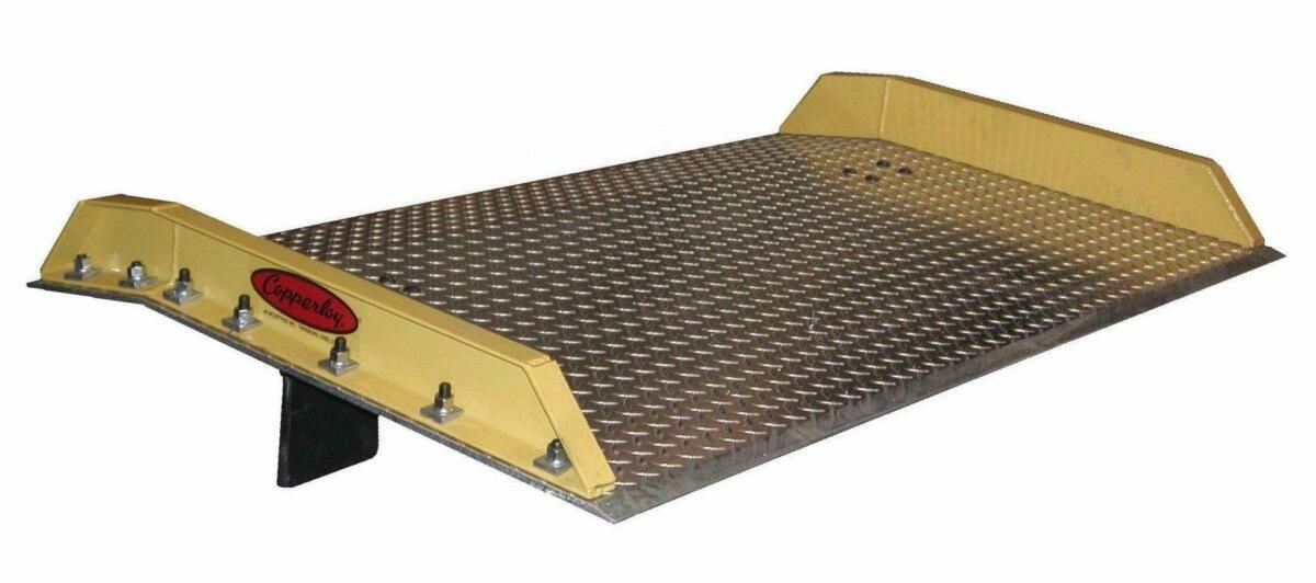 aluminum dockboard steel curbs
