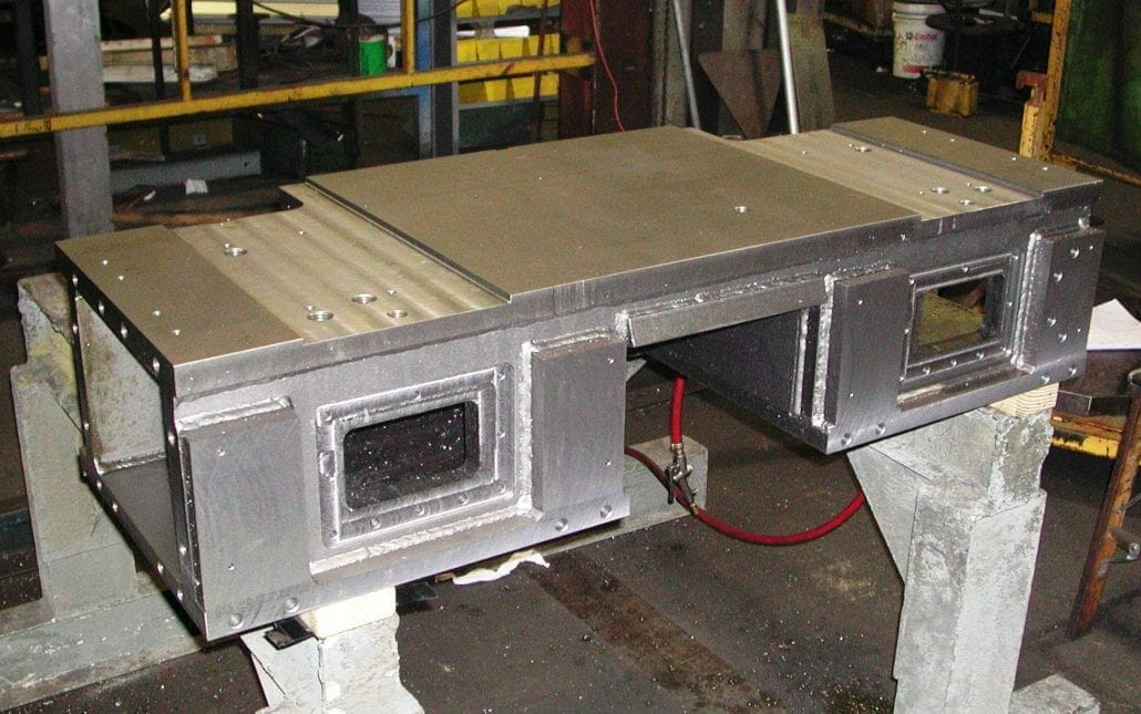 custom steel fabrication large machined fabrications cutter