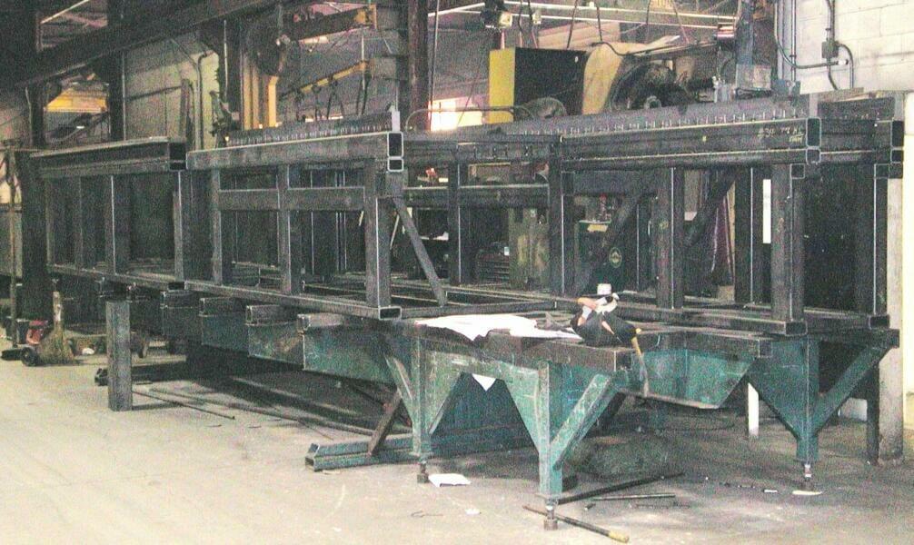 custom steel fabrication large machined fabrications