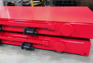 pallet for rebar with ratcheting system