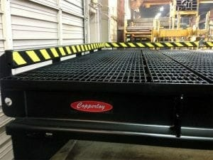 the new platform with side skirts and grating