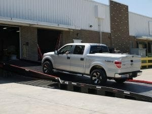 A key requirement was for a truck to be able to drive up the ramp into the loading facility. Copperloy was able to achieve just that.