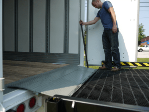 Copperloy® projections of edge of dock leveler