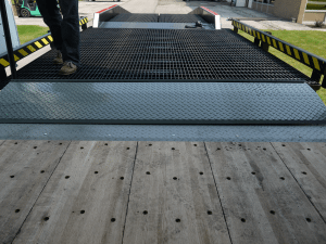 Widths of Copperloy® edge of dock leveler